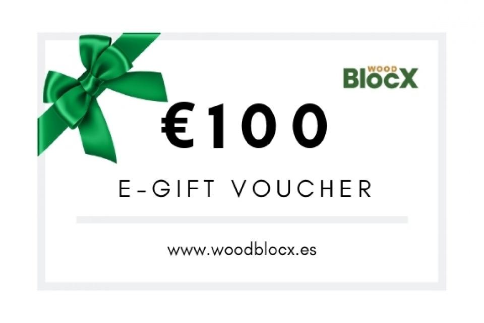 Vale de regalo WoodBlocX 100 €