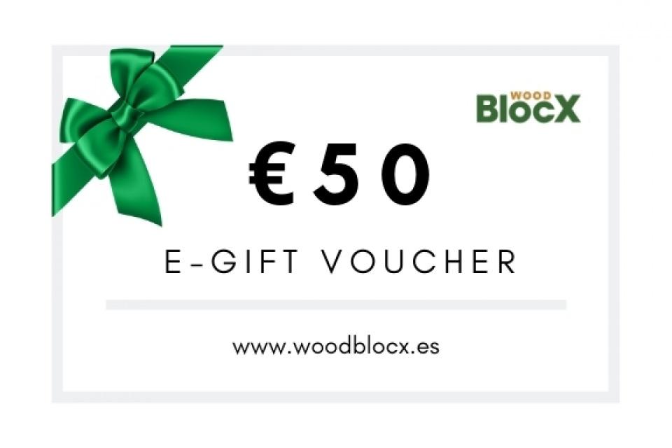 Vale de regalo WoodBlocX 50 €