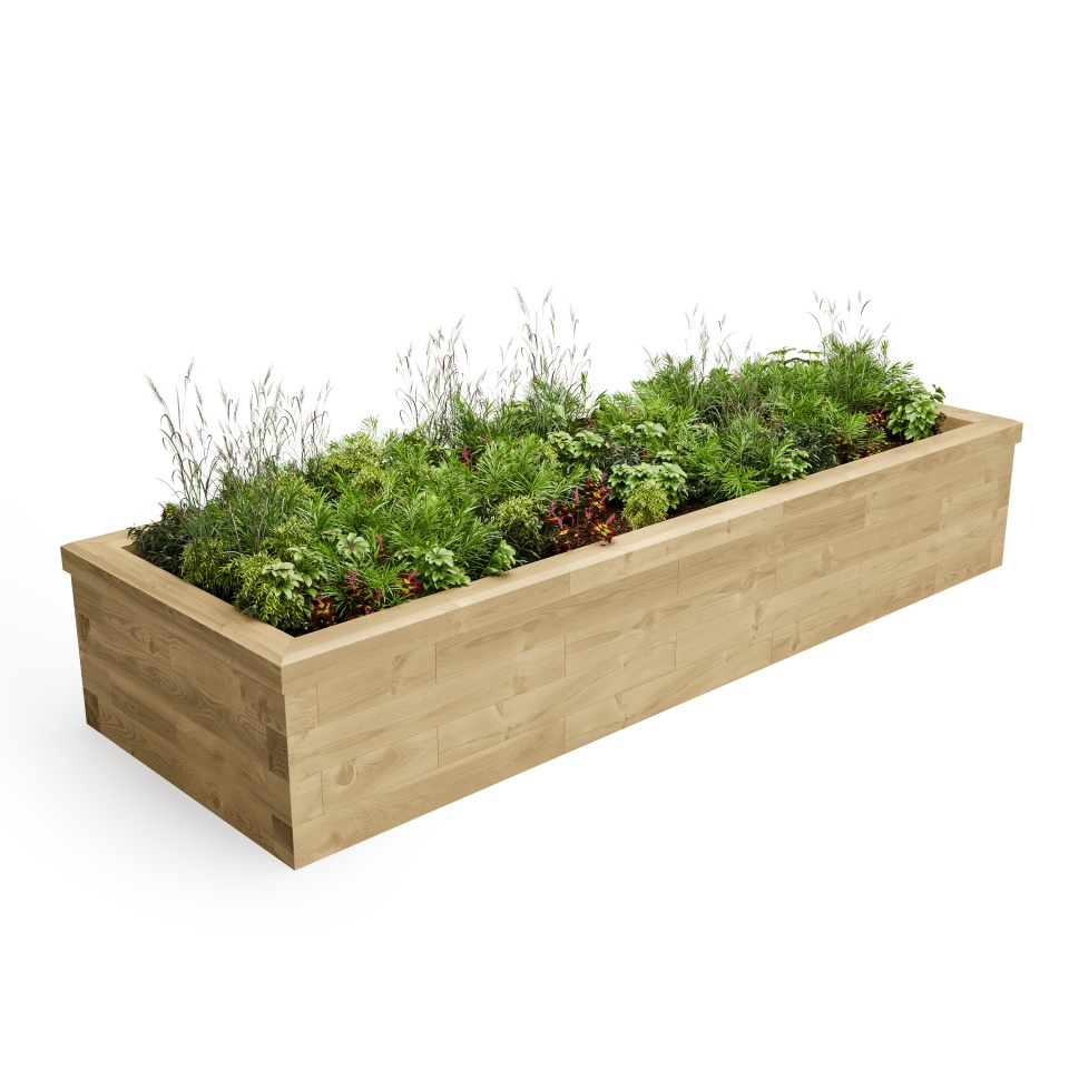 Raised Bed / Length x Width x Height - 2625 x 900 x 450 mm