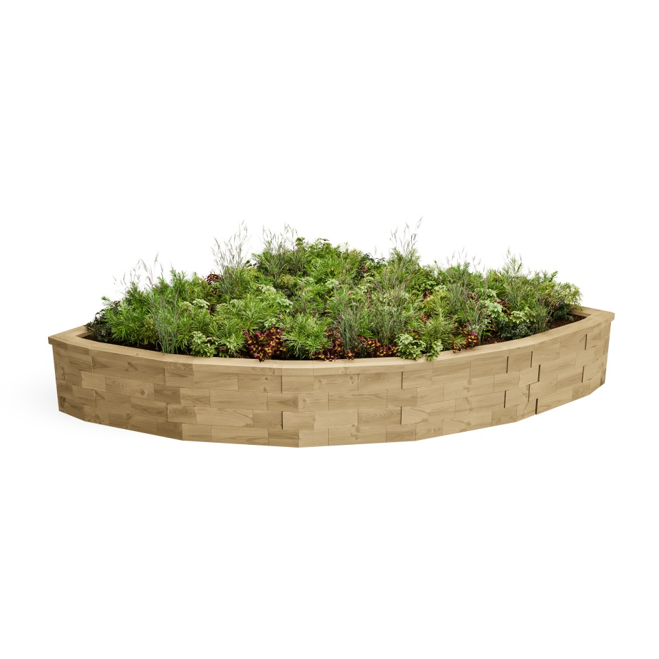 Large Curved Corner Raised Bed