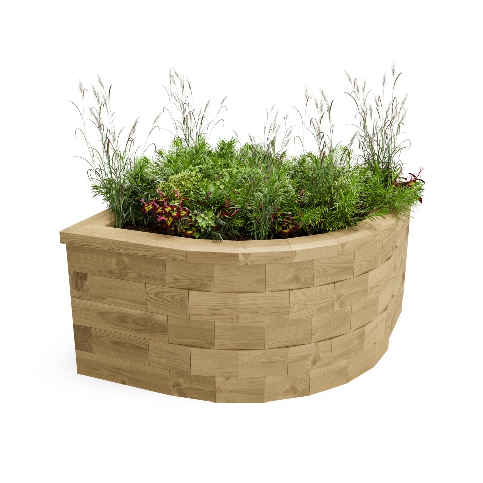 Curved COrner Raised Bed