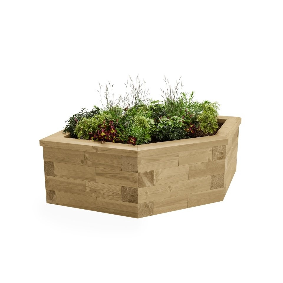 Hexagonal Planter / 1.55 x 0.924 x 0.45m