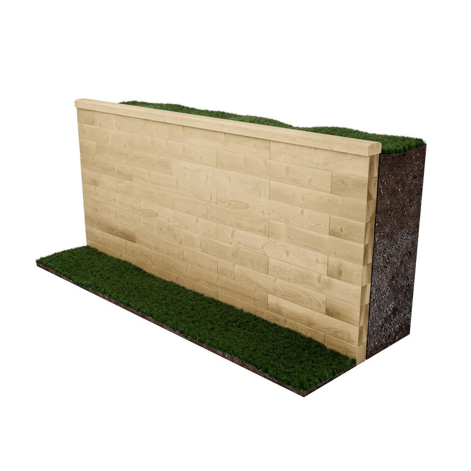 Pared hecha a medida / Elija cualquier forma de longitud, forma o tamaño que se adapte a su jardín