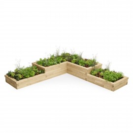 Multi Level L-Shaped Corner Raised Bed