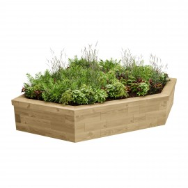 Corner Raised Bed / 1500 x 1500 x 550 mm