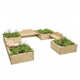 Extra Long Triple Planter for Kids