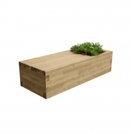 Contemporary Planter Bench / 1.875 x 0.75 x 0.45m