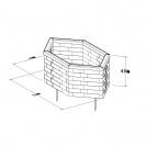 High Hexagonal Raised Bed