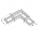 Multi Level L-Shaped Corner Raised Bed